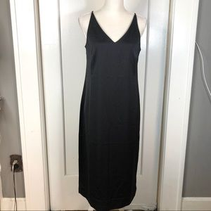Jcrew 365 NWT black slip dress fully lined size 8